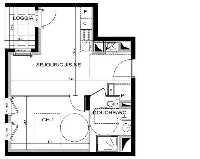Sale apartment Lyon 8ème 196000€ - Picture 2