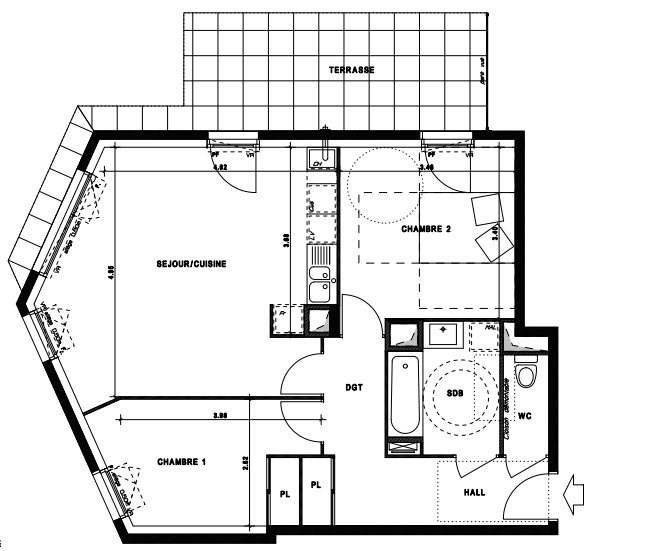 Sale apartment Vaulx en velin 209000€ - Picture 3