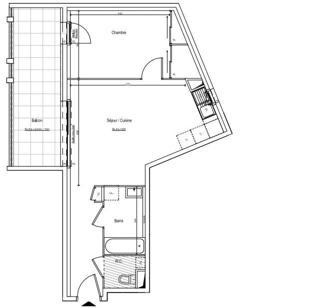 Vente appartement Chassieu 192000€ - Photo 4