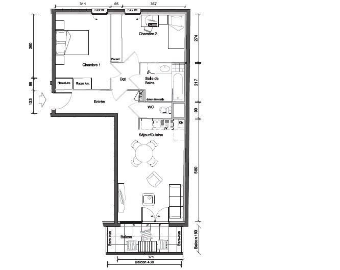 Sale apartment Oullins 238000€ - Picture 1