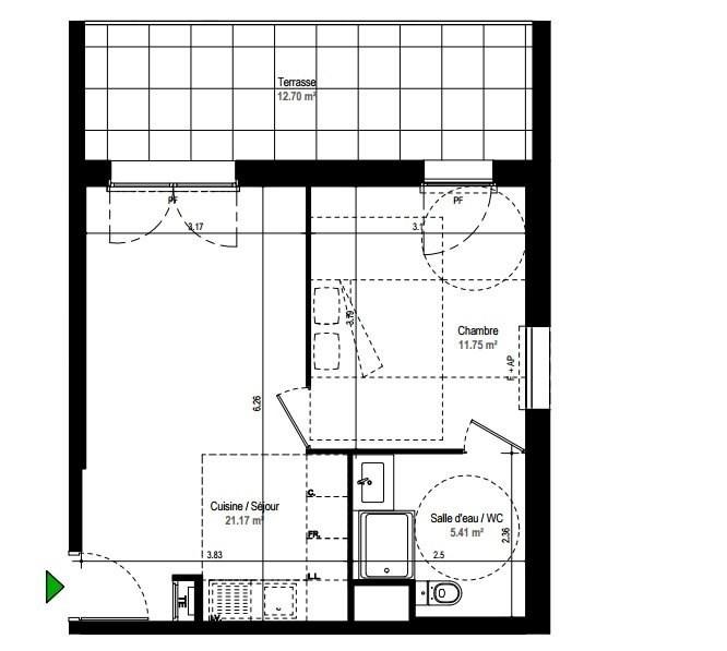 Sale apartment Rillieux la pape 114000€ - Picture 2