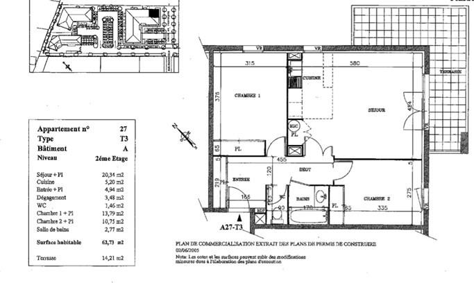 Vente appartement L'isle jourdain 140000€ - Photo 1