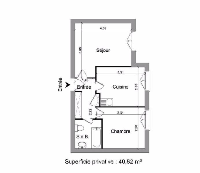 Location appartement Villefranche sur saone 403€ CC - Photo 2