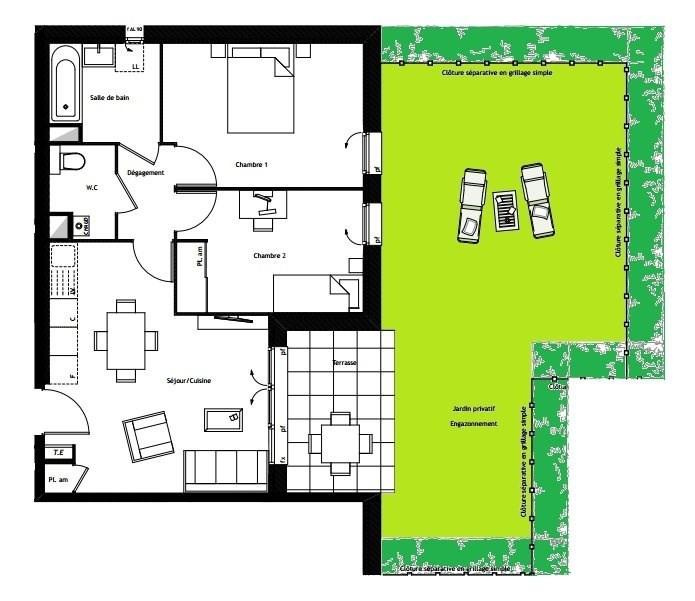 Sale apartment Fontaines sur saone 226000€ - Picture 2