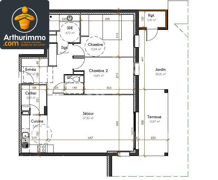 Vente appartement Pau 235000€ - Photo 1