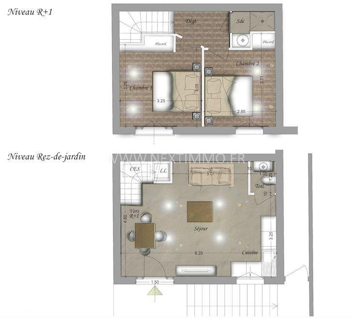 Vente appartement Beausoleil 336000€ - Photo 2
