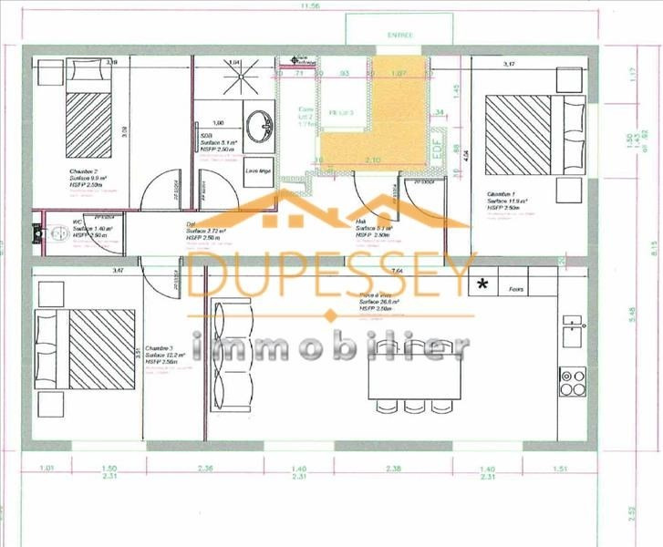 Vente appartement Barby 220000€ - Photo 1