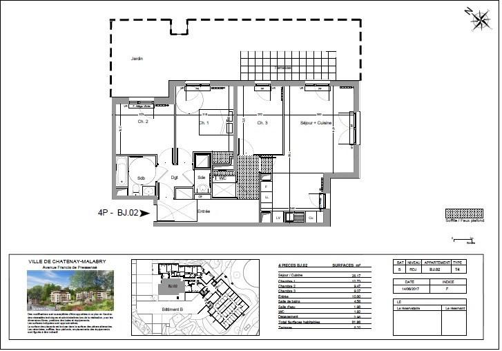 Vente appartement Châtenay-malabry 300000€ - Photo 1