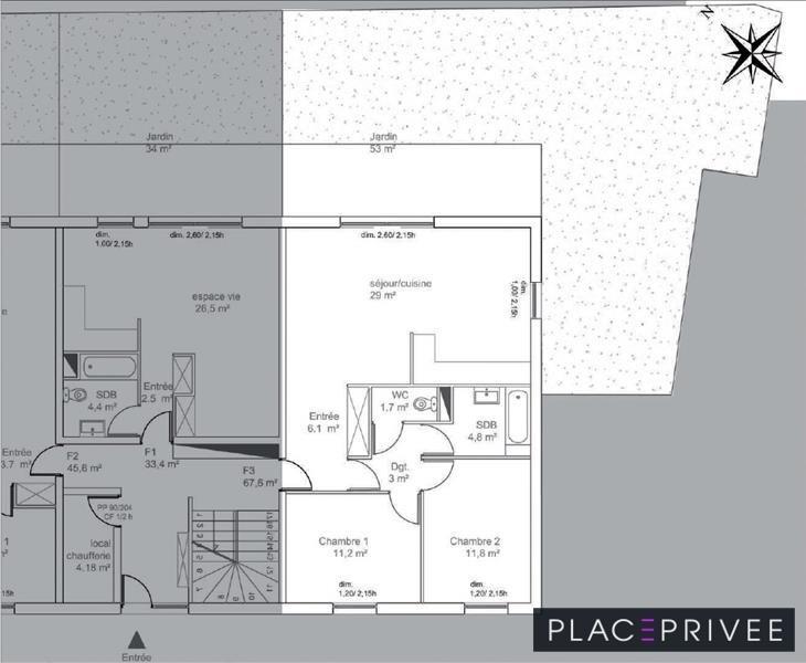 Vente appartement Tomblaine 232000€ - Photo 2