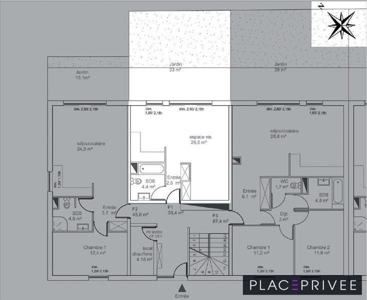 Venta  apartamento Tomblaine 128000€ - Fotografía 3