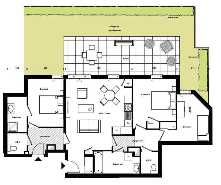 Sale apartment Villeurbanne 372000€ - Picture 2