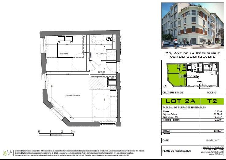 Sale apartment Courbevoie 335000€ - Picture 3