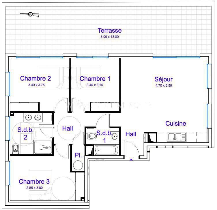 Sale apartment La gaude 390000€ - Picture 4