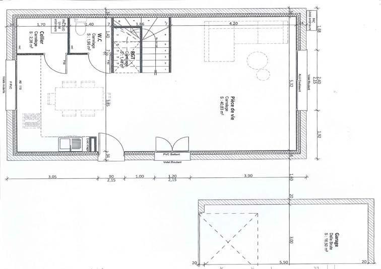 Vente maison / villa Chavanoz 247000€ - Photo 2