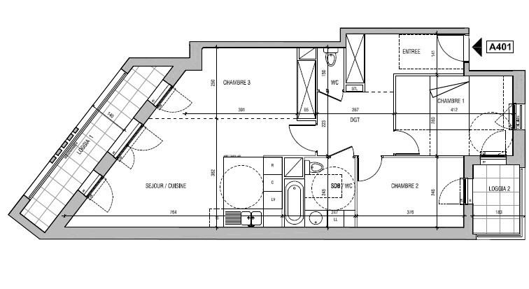 Sale apartment Aubervilliers 310000€ - Picture 1