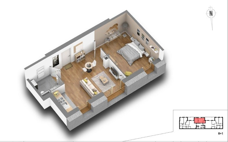 Vente appartement Courbevoie 313000€ - Photo 2