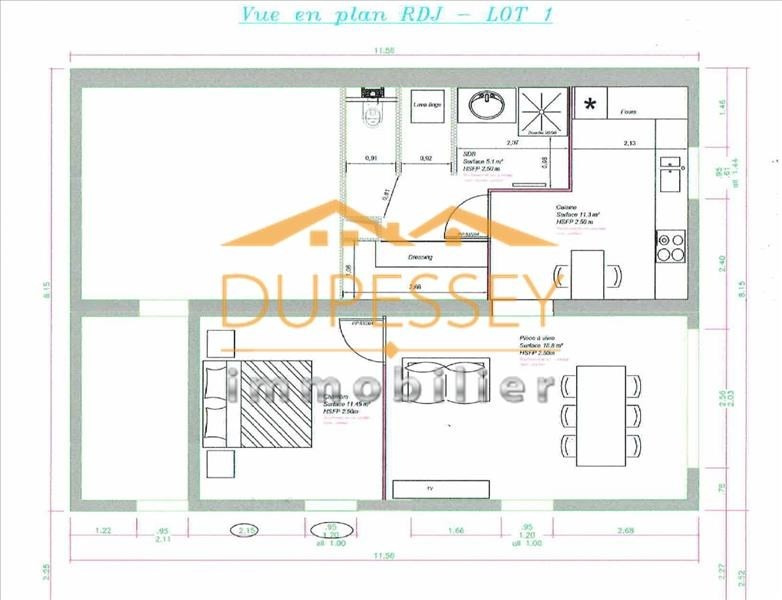 Sale apartment Barby 180000€ - Picture 2