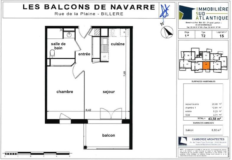 Sale apartment Billère 105000€ - Picture 2
