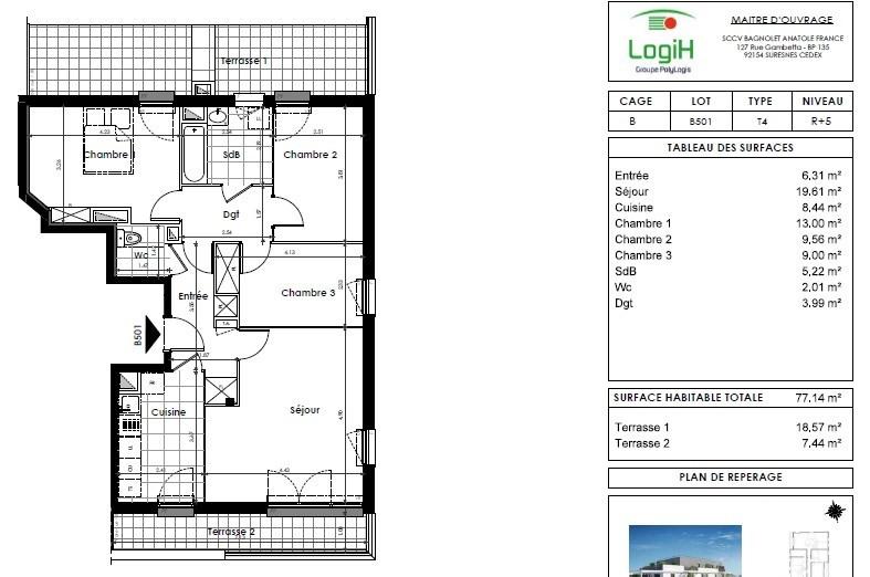 Sale apartment Bagnolet 310000€ - Picture 3