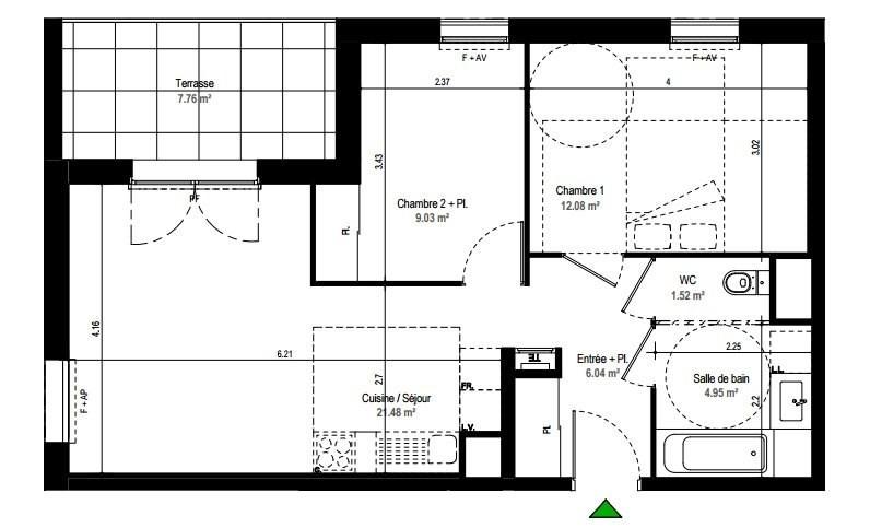 Sale apartment Rillieux la pape 158000€ - Picture 3