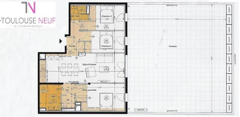 Vente appartement Toulouse 425900€ - Photo 9