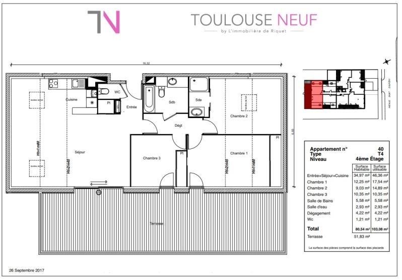 Vente appartement Toulouse 402900€ - Photo 6