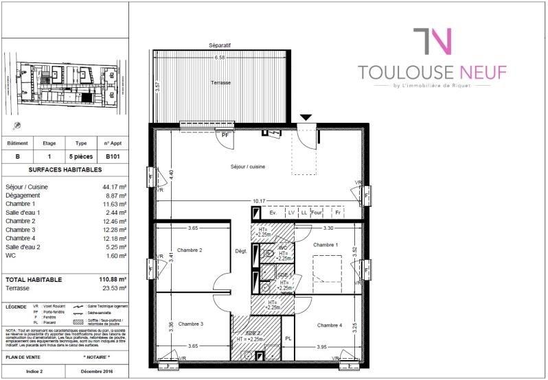 Vente appartement Balma 297500€ - Photo 9