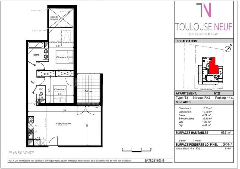 Vente appartement Toulouse 268000€ - Photo 7