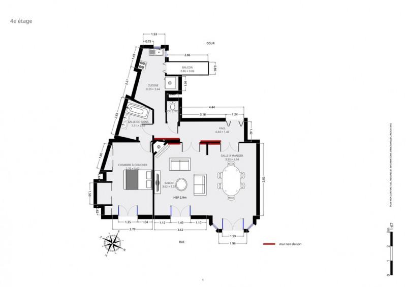 Sale apartment Paris 18ème 585000€ - Picture 9