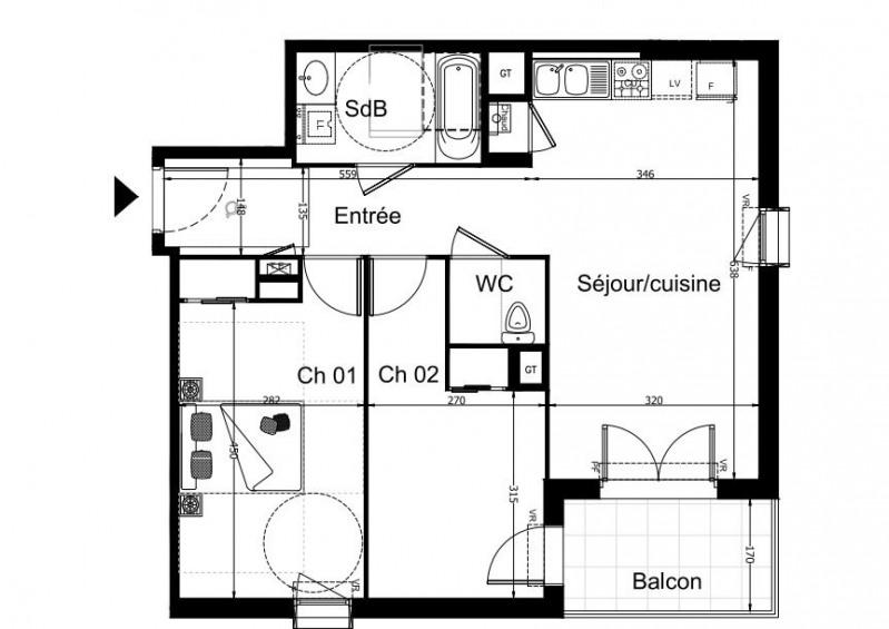 Sale apartment Lyon 7ème 211000€ - Picture 1