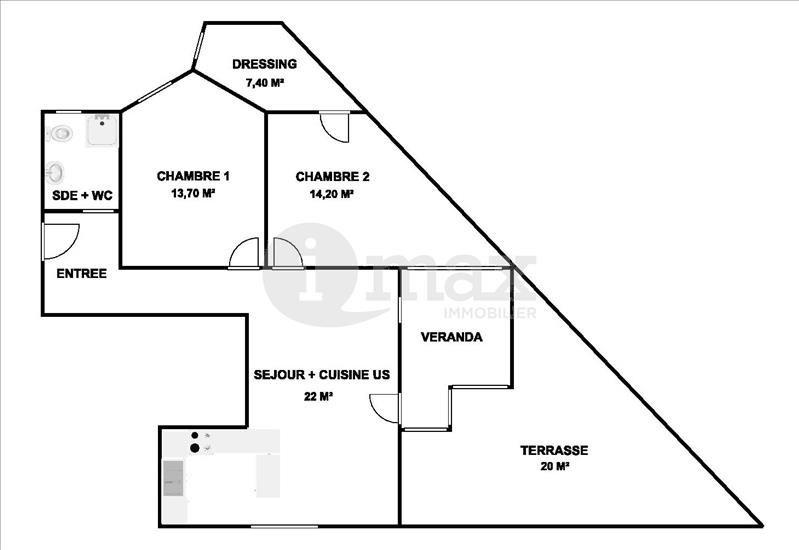 Sale apartment Courbevoie 565000€ - Picture 5