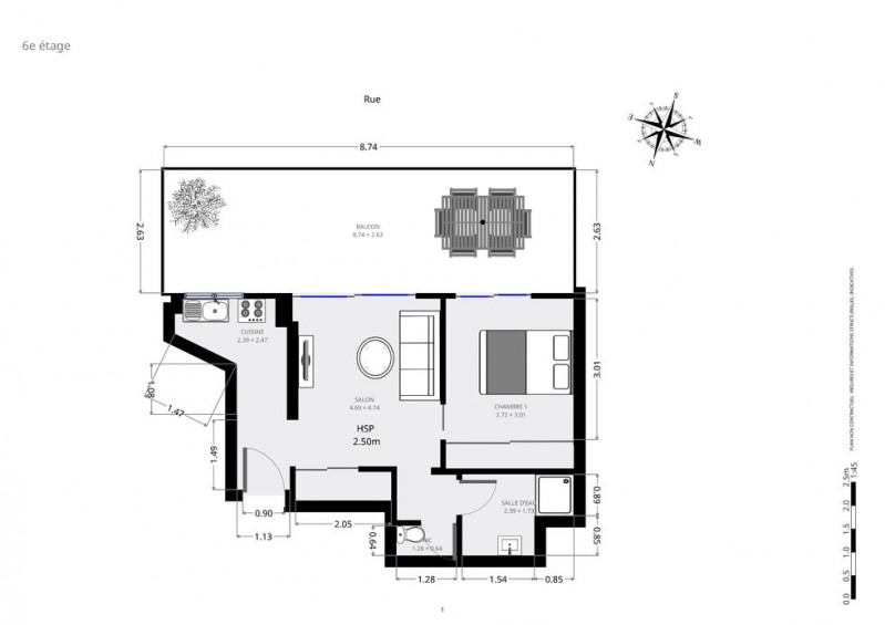 Sale apartment Paris 15ème 480000€ - Picture 9