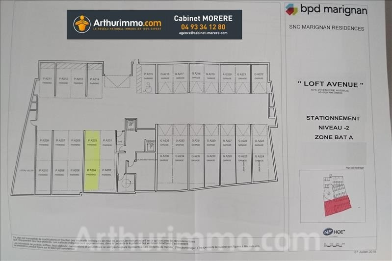 Rental parking spaces Antibes 159€ CC - Picture 5