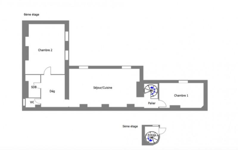 Vente appartement Paris 7ème 749000€ - Photo 2