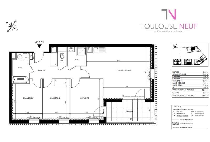 Vente appartement Toulouse 286 000€ - Photo 7