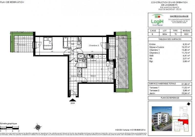 Vente appartement Bagnolet 248000€ - Photo 3
