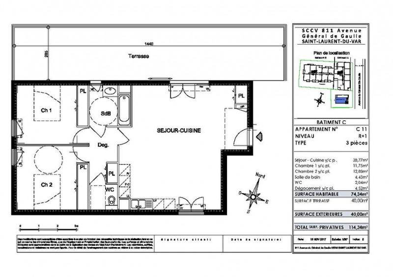 Vente appartement Saint laurent du var 380000€ - Photo 2