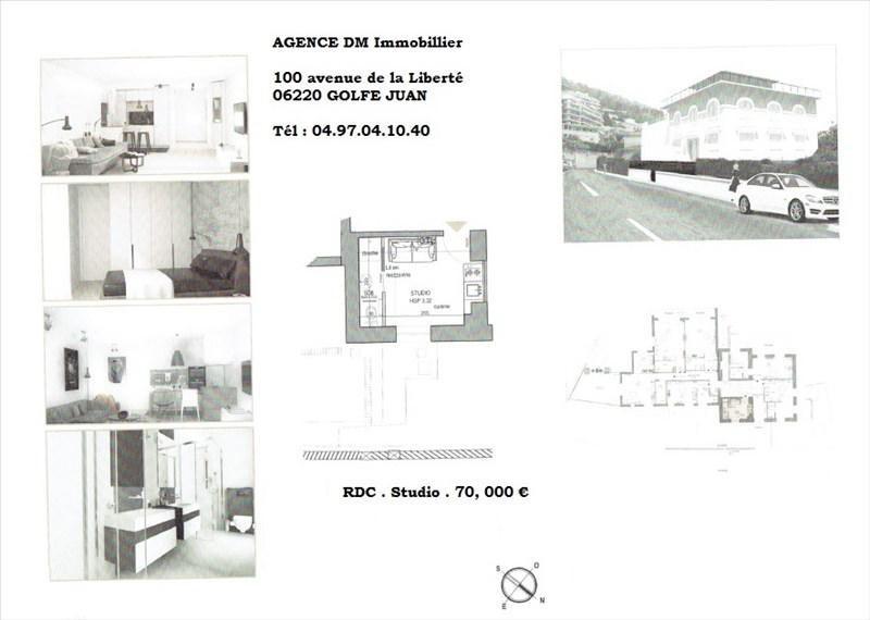 Вложения денег в недвижимости квартирa Nice 70000€ - Фото 1