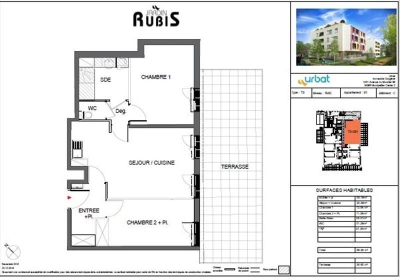 Vente appartement Montpellier 367000€ - Photo 2