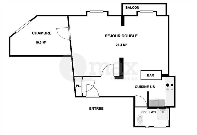 Sale apartment Courbevoie 360000€ - Picture 5