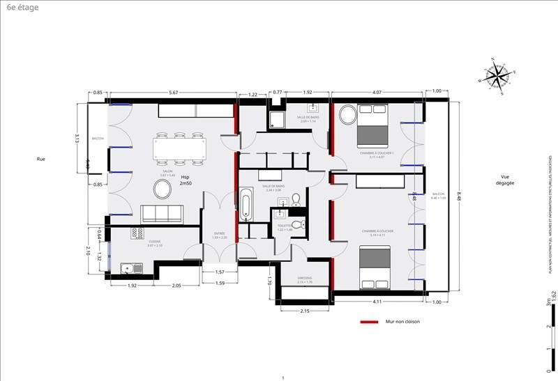 出售 公寓 Paris 15ème 890000€ - 照片 8