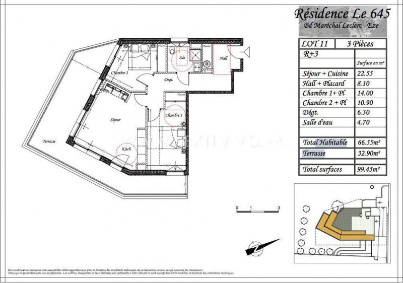 Venta  apartamento Èze 485815€ - Fotografía 3