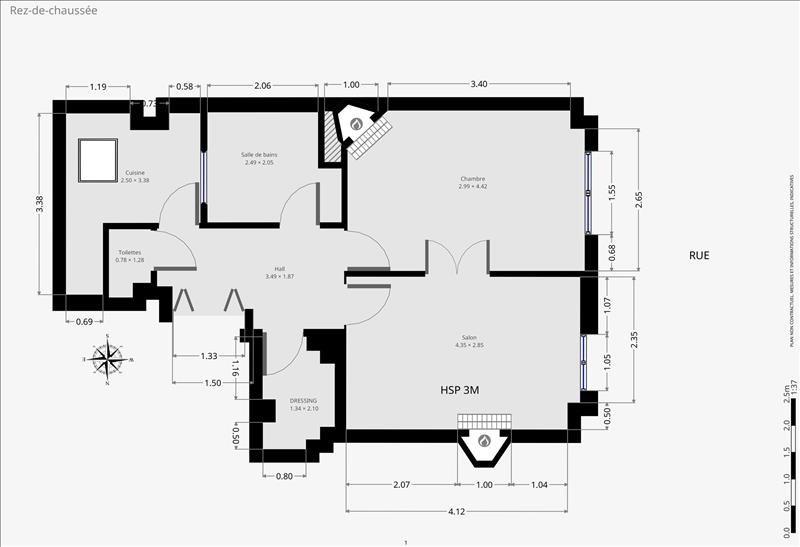Sale apartment Paris 15ème 438000€ - Picture 9