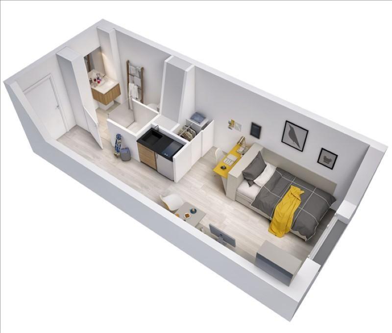 Sale apartment Toulouse 102300€ - Picture 2