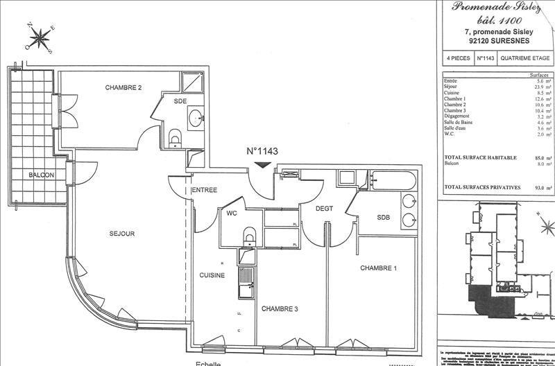 Alquiler  apartamento Suresnes 2065€ CC - Fotografía 3