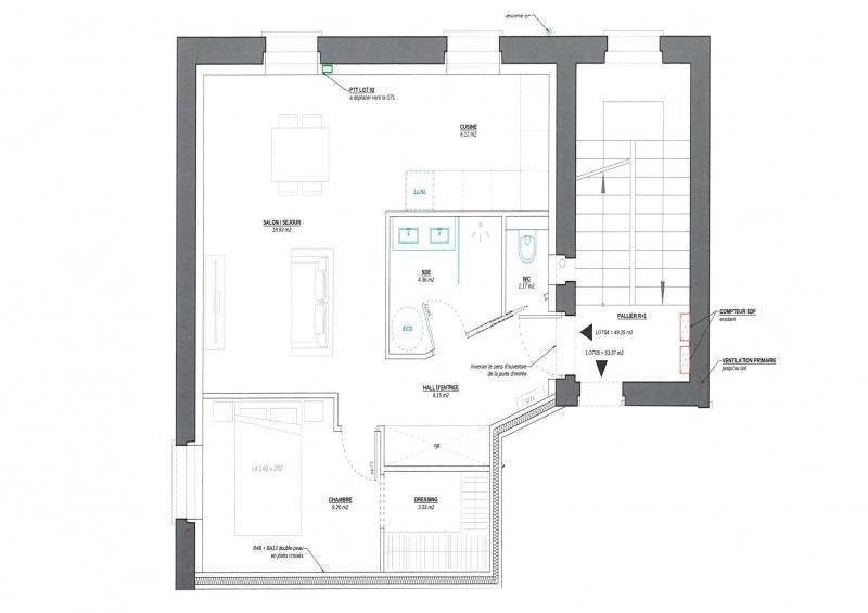 Sale apartment Decines charpieu 109900€ - Picture 1