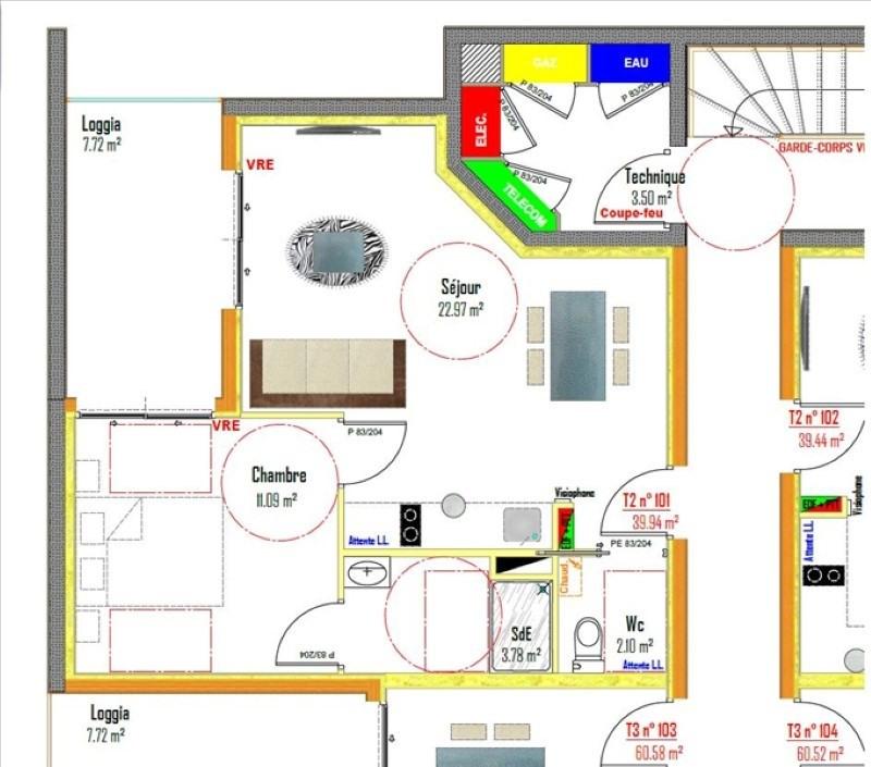 Sale apartment Rodez 97282€ - Picture 1