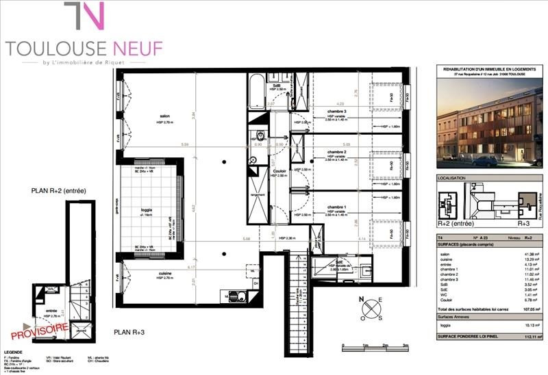 Vente de prestige appartement Toulouse 740 000€ - Photo 9