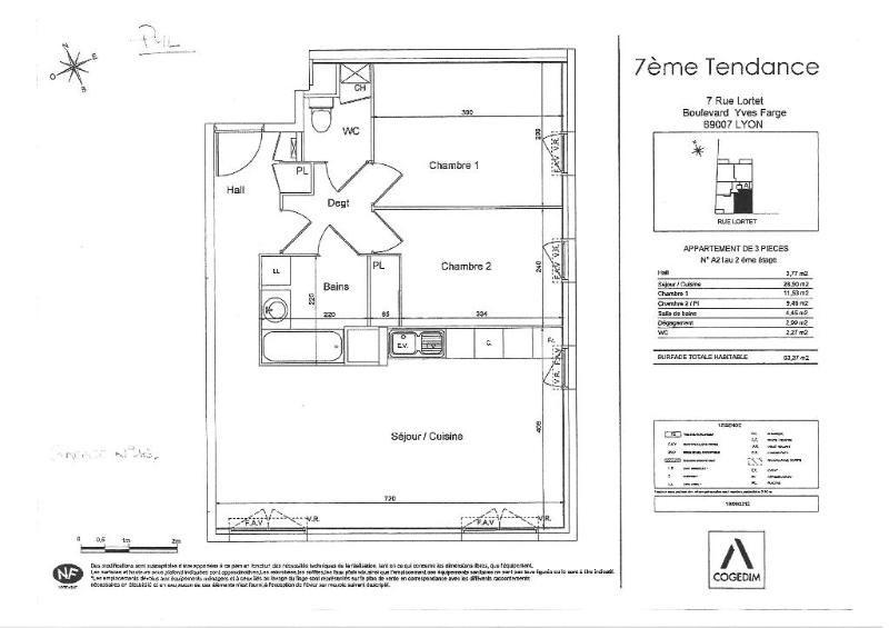 Rental apartment Lyon 7ème 690€ CC - Picture 8