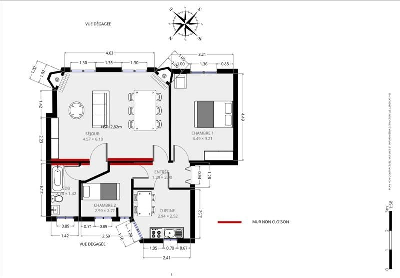 Vente appartement Paris 15ème 745000€ - Photo 9